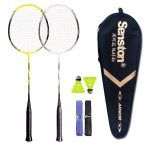 Senston - 2 Player Graphite Badminton Racket Set