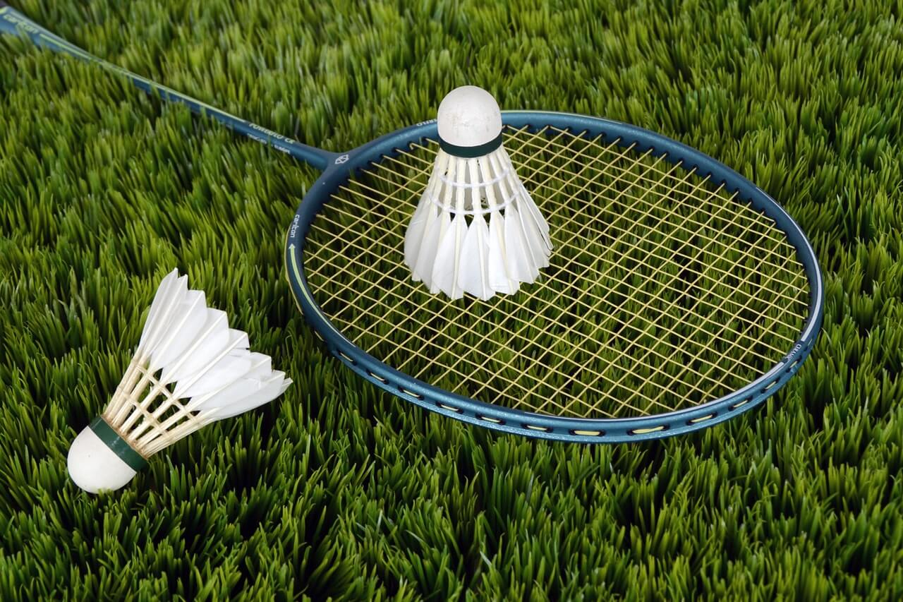 badminton shuttle, racket